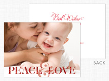 Peace & Love Holiday Photo Cards